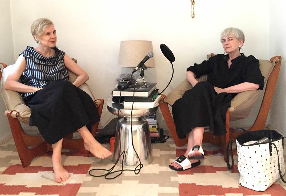Lyn Slater talking with Sylvia