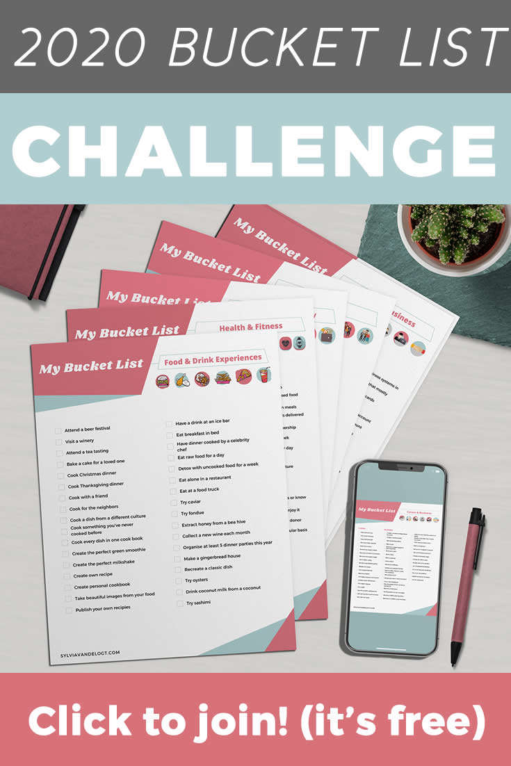 Join the 2020 bucket list challenge and start creating your best year (and decade!) ever